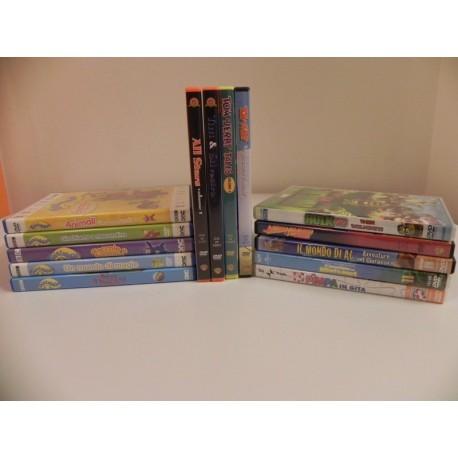 CARTONI ANIMATI PICCOLO LOTTO 14 DVD ORIGINALI (TELETUBBIES TOM & JERRY + ALTRI)