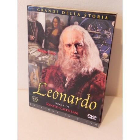 LEONARDO I GRANDI DELLA STORIA 2 DVD ISTITUTO LUCE REGIA RENATO CASTELLANI