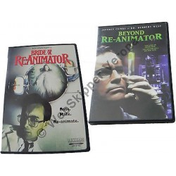 H.P. LOVECRAFT BRIDE OF RE-ANIMATOR & BEYOND RE-ANIMATOR DVD - REGIONE 1 NTSC