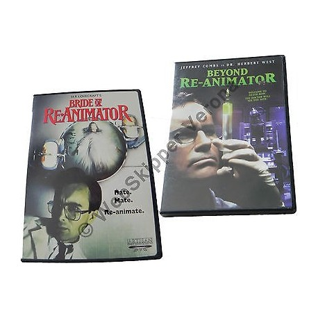 H.P. LOVECRAFT BRIDE OF RE-ANIMATOR & BEYOND RE-ANIMATOR DVD - REGIONE 1 NTSC