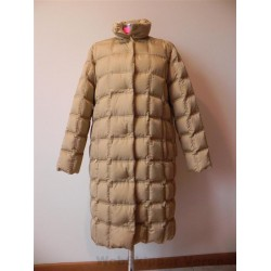 MONCLER PIUMINO GIACCA LUNGA DONNA TG.3 (46) BEIGE ANNI '90 GIACCONE VINTAGE