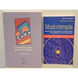 INIZIAZIONE ALLA MUSICOTERAPIA - LA MUSICA COME PROCESSO UMANO - 2 LIBRI