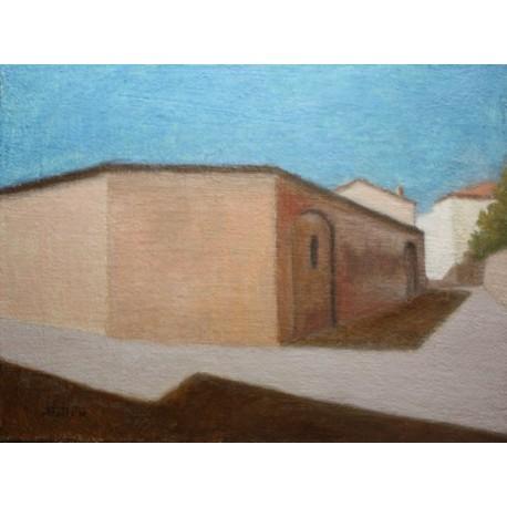 LUCIO STATTI - DIPINTO OLIO SU TELA - BAGNACAVALLO - QUADRO 30 x 40